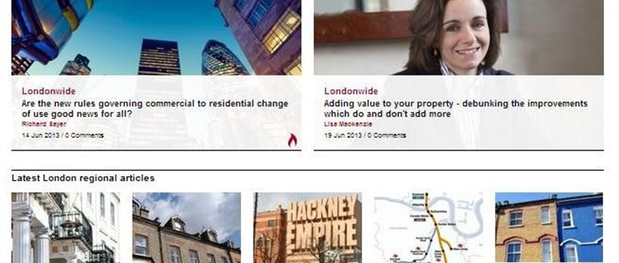 launches London property market blog