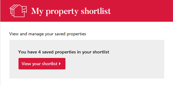 My Property shortlist