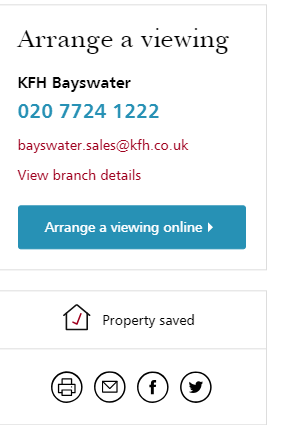 Saved to MyKFH shortlist property details button